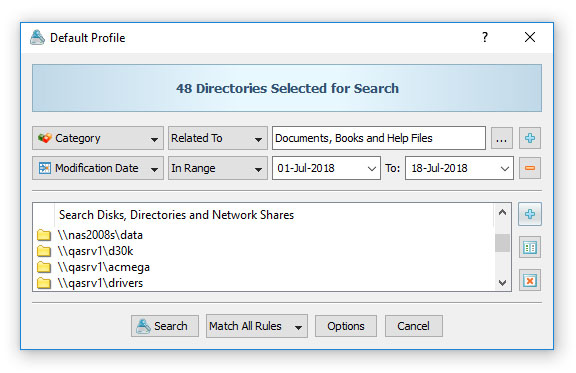 VX Search Network Search Command