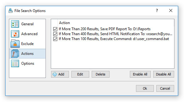 Conditional File Search Actions