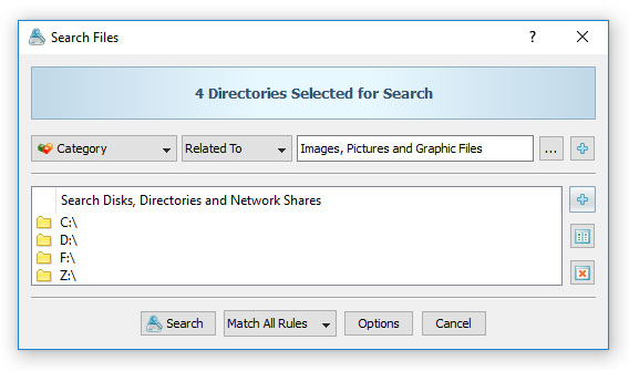 VX Search - File Search - Search Files by File Type or Category
